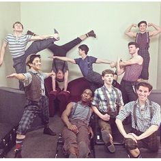 The Newsies would have, like, the most epic mannequin challenge ever. Theatre Nerds, Music Theater, Broadway Theatre, Broadway Shows, Tuck Everlasting, Draw The Squad, Dear Evan Hansen, A Team, Fangirl