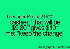 Seriously though.... Like, what would you do with 20 cents!!