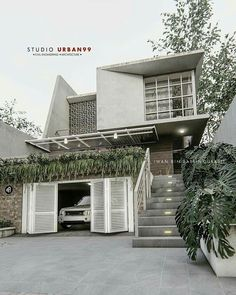 19 trendy home studio architecture building House Front Design, Small House Design, Modern House Design, Minimalist House Design, Minimalist Architecture, Modern Architecture, Villa Design, Facade Design, Exterior Design