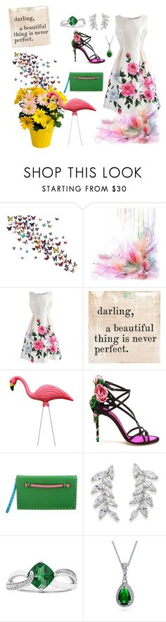 """Spring , darling"" by avagale ❤ liked on Polyvore featuring Chicwish, Dolce&Gabbana, Valentino, Carolee and Bling Jewelry"