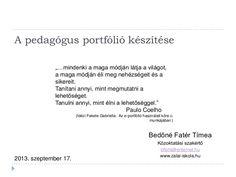 Pedagogus portfolio Portfolio, Education, Schools, Kindergarten, Study, Paulo Coelho, Studio, School, Kindergartens