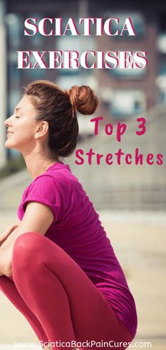 These are my 3 favorite exercises for sciatica + sciatic nerve pain + piriformis syndrome. Targeting the lower back + buttocks + hips, these yoga poses release the piriformis muscle which relieves the pressure off the sciatic nerve. Sciatic Nerve Exercises, Lower Back Pain Exercises, Yoga Poses For Sciatica, Sciatica Stretches, Sciatica Relief, Hip Stretches, Pilates Reformer Exercises, Stretching Exercises, Pilates Yoga