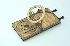 Astronomical Compendium Signed by Humfrey Cole Dated 1568; London Gilt brass; 66 x 60 x 20 mm closed