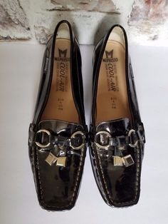 3179354b37d Mephisto Black Patent leather Tassel Loafers Womens 8.5 Slip On Shoes  Portugal