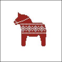 (10) Name: 'Embroidery : Cross stitch pattern Dala horse
