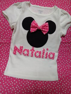 Personalized mouse applique shirt. $30.00, via Etsy.