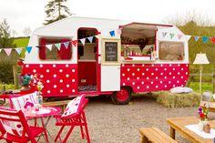 Red polka dot Cocktail Caravan