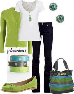 Love the colors. Need a new fitted white tee to wear under jackets and sweaters.