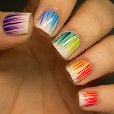 Whimsy Is Forever: Nail Inspiration Rainbow waterfall nail art