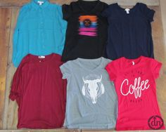 This pack includes tank tops, dolman tops, tunics, t-shirts and more! You will probably topple over when you open your package and discover what this top pack has to offer!Our staff loves to create these packs, and we know that everyone has a little bit of a different style. That's why we include multiple types of tops, and different sizes.  This pack comes with 6 assorted shirts in the following sizes: 1 small, 1 medium, 1 large, 1 x-large, 1 2x and 1 3x top!