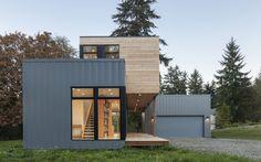 cedar clad prefab house by method homes