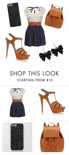 """""""Polka dotsss ⚪️⚫️⚪️⚫️"""" by lydiaviolet ❤ liked on Polyvore featuring Yves Saint Laurent and Barneys New York"""