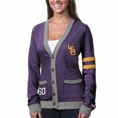 LSU Tigers Womens Any Day Cardigan - Purple