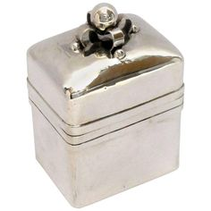 1940s William Spratling Silver Tea Caddy 1