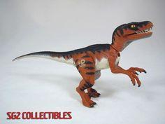 Jurassic Park Lost World Velociraptor Raptor Yellow Eyes Kenner 1997 Dinosaur #Kenner