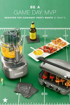 Whether you are getting ready for a tailgate or hosting a gamewatch party, Macy's has what you need so you can be MVP! Trust Cuisinart to help you whip up the perfect snacks and dishes to feed your friends and family. Head to macys.com now and add food processors, griddlers and more to your wedding registry!