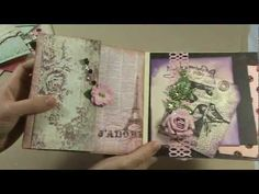 Romantic Mini Album for a swap with my friend Leonie (MyPassionForPaper) - YouTube