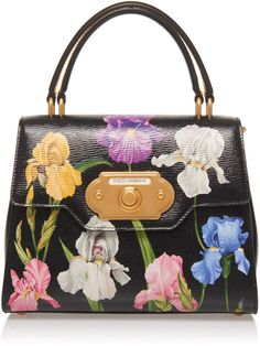 c66d402934 Dolce & Gabbana Welcome Floral-Print Leather Shoulder Bag Dolce And Gabbana  Purses, Welcome