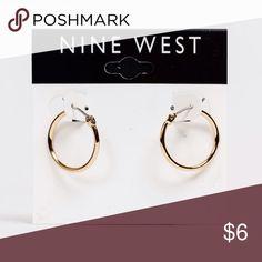 Nine West Gold Hoop Earrings New, never worn, Nine West Gold Hoop Earrings Nine West Jewelry Earrings