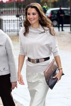 I love her, one of the most beautiful women in the world with great heart - Queen Rania Of Jordan