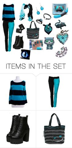 """cheshire cat outfit"" by mintypaw on Polyvore featuring art"