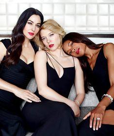 Monica Bellucci, Léa Seydoux and Naomie Harris by Bryan Adams for Vanity Fair November 2015