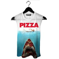 Pizza Shark Muscle Tank by Beloved Shirts