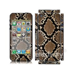 Animal pattern Skin Cover Screen Protector for Apple iPhone 5 (Style 1) [CCSK-PHVP12] - $12.00 : Snake