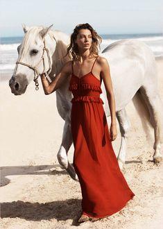 Daria Werbowy Hits the Beach in Mangos Summer 2014 Catalogue