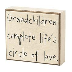 Grandchildren Box Sign