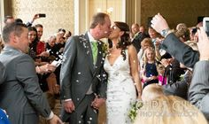Confetti thrown in the Nonsuch Mansion Rose room