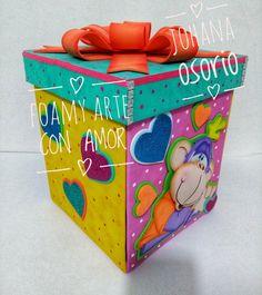 Caja explosiva elaborada en foamy, creadora Johana osorio Explosion Box, Kylie Jenner, Toy Chest, Gifts, Diy, Home Decor, Early Childhood Education, Hand Crafts, Decorated Gift Bags