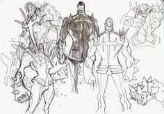 Mako and Ira concept art by Sushio, featured in The Art of KlK Vol Fight Club Mako looks so badass! Cool Sketches, Cool Drawings, Character Design References, Character Art, Animation Storyboard, Model Sketch, Drawing Poses, Fantasy Artwork, Manga