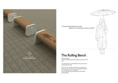 The Rolling Bench by sung woo park at Coroflot.com
