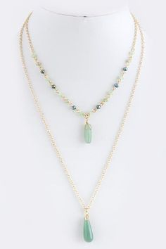 """Dust"" Necklace - SEMI PRECIOUS STONE LAYER NECKLACEApprox. 16"", 22""…"