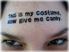 Easy Last Minute Funny Halloween Costume DIY Temporary Tattoo #easy #funny #Halloween #costume