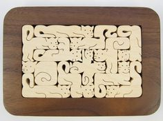 Wooden Cat Puzzle  by Will Witham