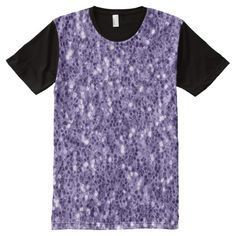 Ultra violet purple glitter sparkles Men's All-Over-Print panel T-Shirt apparel by #PLdesign #style #fashion #pantone @zazzle