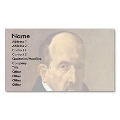 Portrait Of The Poet Luis De G� � Ngora Y Argote Business Card
