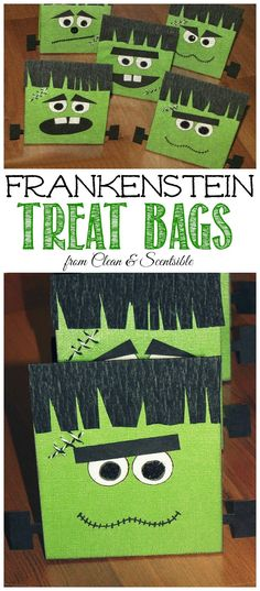 Halloween goody bags for the kids Super easy and they loved them - halloween treat bag ideas