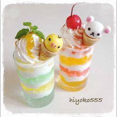 ヨーグルトとゼリーのプチパフェ。※ ♥ Dessert