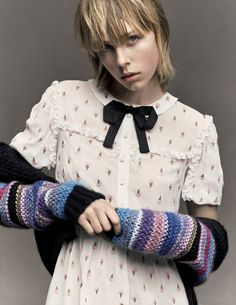Vogue Japan April 2016 Model: Edie Campbell Photographer: Iango Henzi and Luigi Murenu