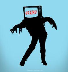TV Zombie / themisfitpenguin.com