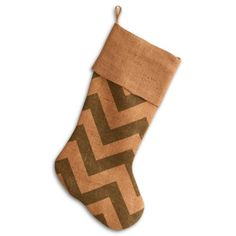 Find it at the Foundary - 20 in. Green Chevron Burlap Stocking