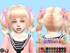 Studio K Creation: Animate hair 23 momo • Sims 4 Downloads