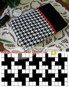 Needles and Brushes: Cover for netbook in tapestry crochet Crochet Diy, Filet Crochet, Crochet Crafts, Diy Crafts, Tapestry Crochet Patterns, Crochet Stitches Patterns, Stitch Patterns, Knitting Patterns, Knitting Charts