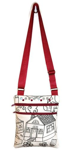 Color Me Bag Personalized Bag Little Bag Sling by CitySewist