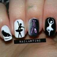 can you make dance nails what kind of dance nails? like ballerina nails? Ballet Nails, Dance Nails, Music Nails, Gorgeous Nails, Pretty Nails, Fun Nails, Ballerina Art, Ballerina Nails, Ballet Art