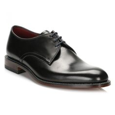 Mens Black Drake Leather Derby Shoes ($195) ❤ liked on Polyvore featuring men's fashion, men's shoes, men's dress shoes, mens black derby shoes, loake mens shoes, mens derby shoes, mens leather dress shoes and mens dress shoes