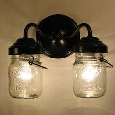 Mason Jar Double Sconce